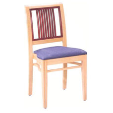 589 Stacking Chair w/ Upholstered Seat - Grade 2