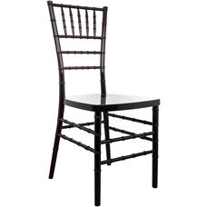 Advantage Black Resin Chiavari Chair