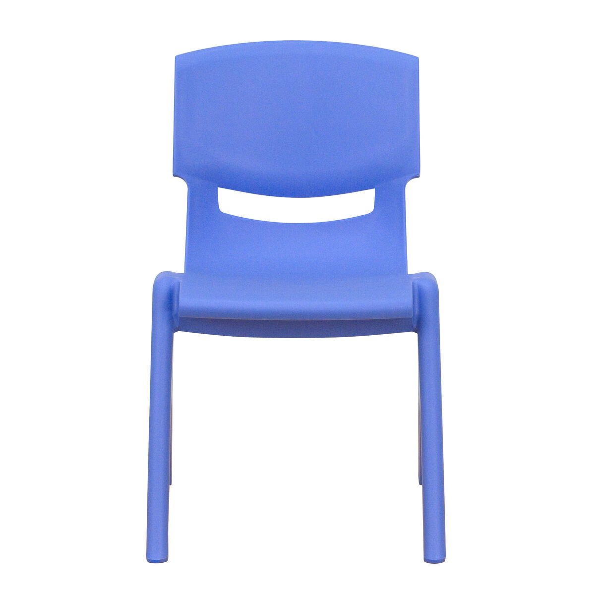 Blue Plastic Stackable School Chair with 12\'\' Seat Height