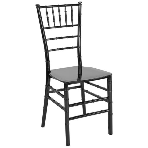 """Our HERCULES Series Black Resin Stacking Chiavari Chair with <span style=""""color:#0000CD;"""">Free </span> Cushion is on sale now."""