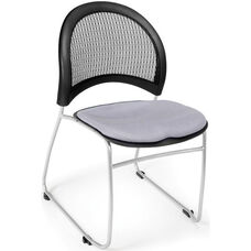 Moon Stack Chair with Fabric Seat Cushion - Putty