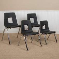 Advantage Black Student Stack School Chair - 12-inch