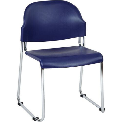 Our Work Smart Stack Chair with Plastic Seat and Back - Set of 2 - Blue is on sale now.