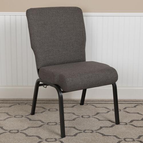 Advantage 20.5 in. Charcoal Gray Molded Foam Church Chair