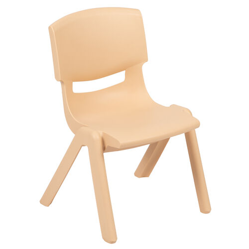 """Our Natural Plastic Stackable School Chair with 10.5"""" Seat Height is on sale now."""
