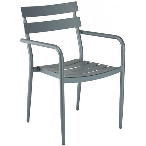 DC Collection Outdoor Arm Chair with Powder Coated Aluminum Frame