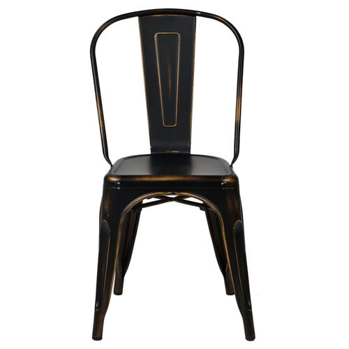 Our Oscar Steel Powder Coated Stackable Armless Chair - Antique Black is on sale now.