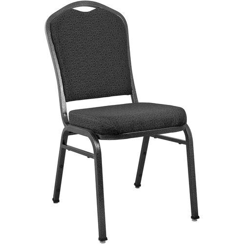Our Advantage Premium Patterned Black Crown Back Banquet Chair is on sale now.