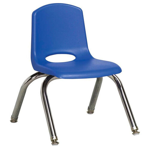 Vented Back Stacking Chair with Chrome Legs and Nylon Swivel Glides