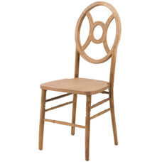 Veronique Series Stackable Twin Wood Dining Chair - Tinted Raw