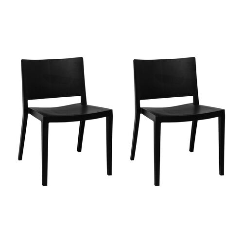 Elio Stackable Sturdy Plastic Chair - Set of 2