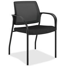 The HON Company Stacking Mesh Back Multipurpose Chair with Black Seat