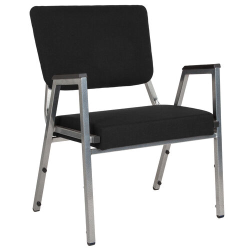 Our HERCULES Series 1500 lb. Rated Black Antimicrobial Fabric Bariatric Medical Reception Arm Chair with 3/4 Panel Back is on sale now.