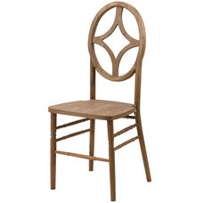 Veronique Series Stackable Diamond Wood Dining Chair - Tinted Raw