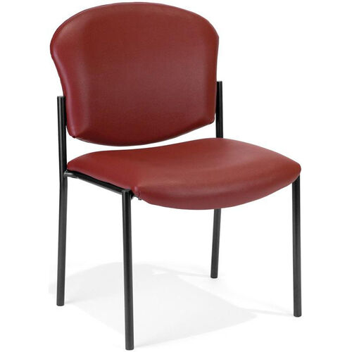 Our Manor Anti-Bacterial and Anti-Microbial Vinyl Guest and Reception Chair - Wine is on sale now.