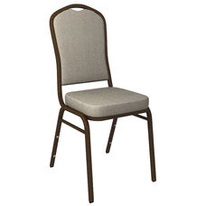 Crown Back Banquet Chair in Culp Montgomery Sterling Fabric - Gold Vein Frame