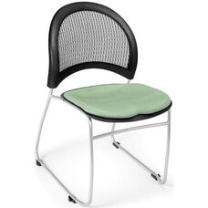Moon Stack Chair with Fabric Seat Cushion - Sage Green