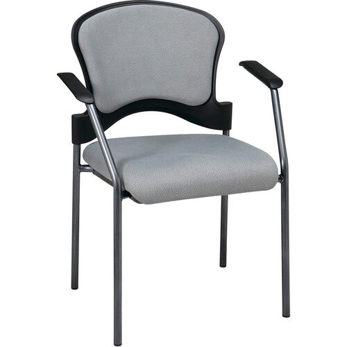 Our Pro-Line II Upholstered Contour Back Stacking Visitors Chair with Arms and Titanium Finish Frame - Ember is on sale now.