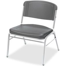 Rough N Ready 350 lb. Capacity Big & Tall Stack Chair - Set of Four - Charcoal