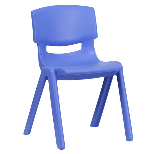 Our Blue Plastic Stackable School Chair with 13.25