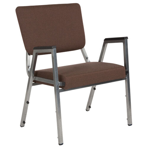 Our HERCULES Series 1500 lb. Rated Brown Antimicrobial Fabric Bariatric Antimicrobial Medical Reception Arm Chair with 3/4 Panel Back is on sale now.