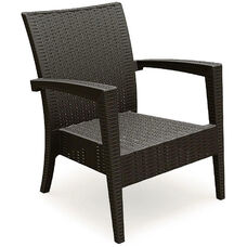 Miami Outdoor Wickerlook Resin Club Arm Chair - Brown
