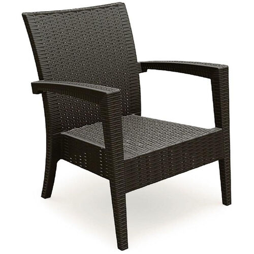 Miami Outdoor Wickerlook Resin Club Arm Chair