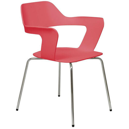 Our Julep Series Stacking Arm Chair with Flex Poly Shell and Silver Frame - Red is on sale now.