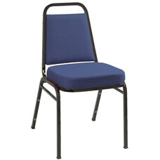 800 Series Stacking Armless Hospitality Chair with Trapezoid Back and 2