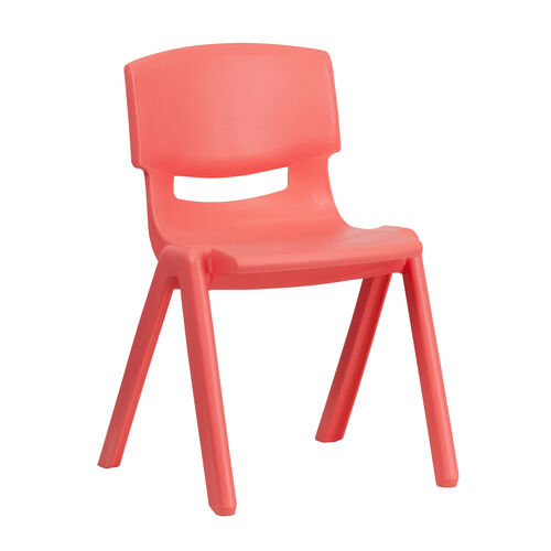 Our Red Plastic Stackable School Chair with 13.25