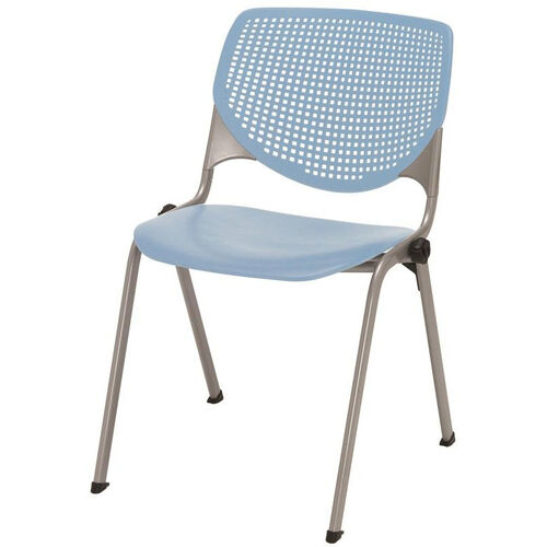 Our 2300 KOOL Series Stacking Poly Armless Chair with Perforated Back and Silver Frame - Sky Blue is on sale now.