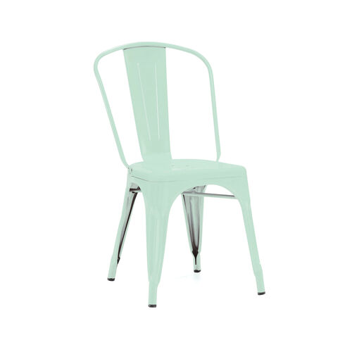 Our Dreux Matte Light Peppermint Stackable Steel Armless Side Chair - Set of 4 is on sale now.