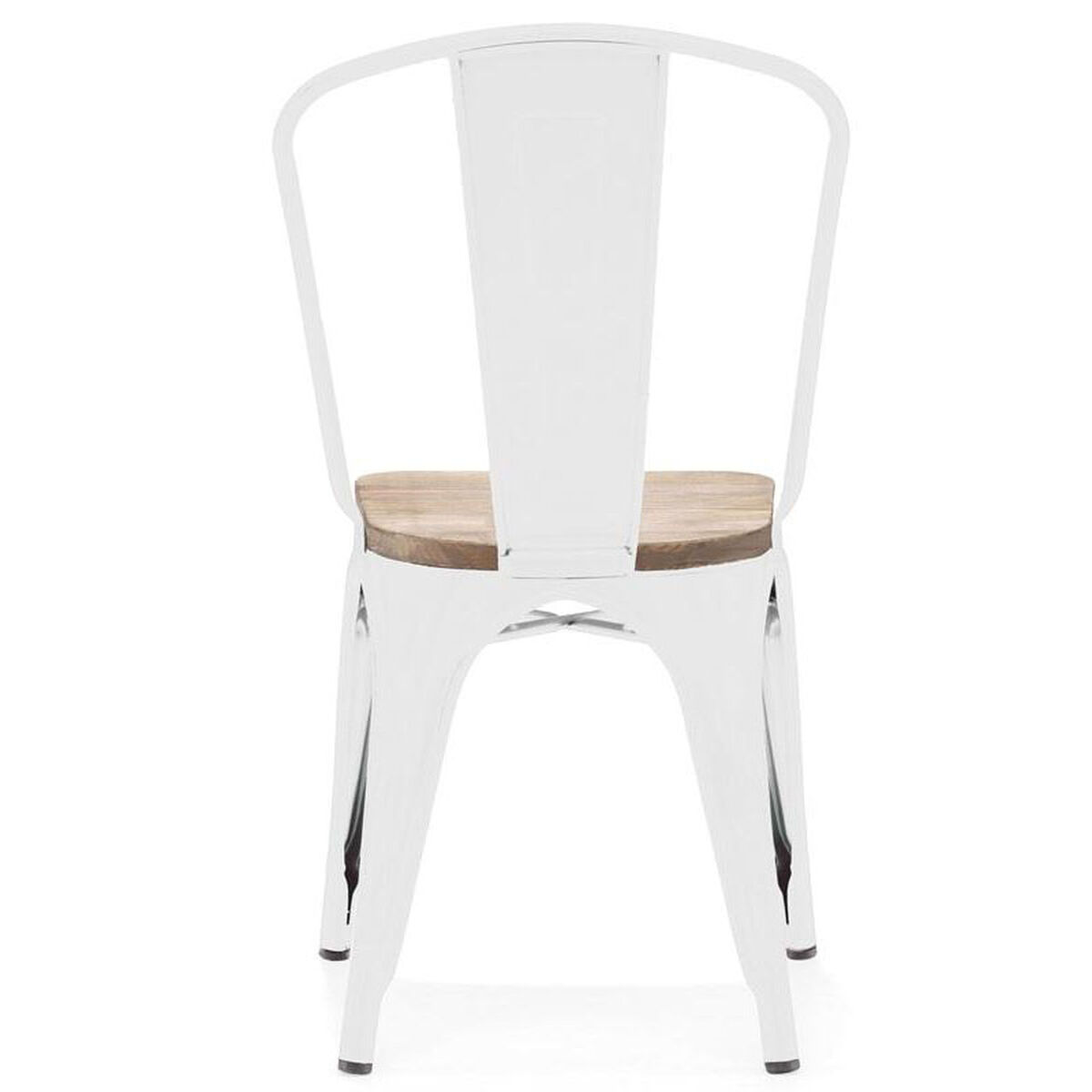 Design Lab Mn Dreux Glossy White Stackable Side Chair With