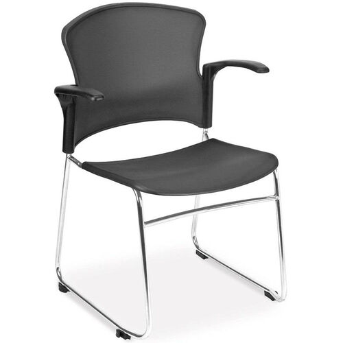 Our Multi-Use Stack Chair with Plastic Seat and Back with Arms - Gray is on sale now.