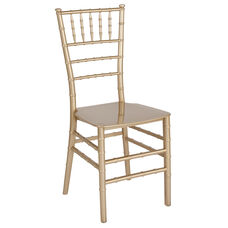 "HERCULES Series Gold Resin Stacking Chiavari Chair with <span style=""color:#0000CD;"">Free </span> Cushion"