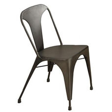 Industrial Metal Cafe Dining Chair - Bronze - Set of 2