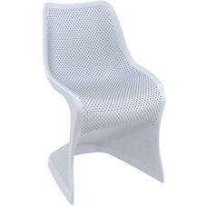 Bloom Contemporary Polypropylene Dining Chair - Silver Gray