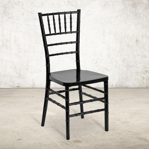 "HERCULES PREMIUM Series Black Resin Stacking Chiavari Chair with <span style=""color:#0000CD;"">Free </span> Cushion"