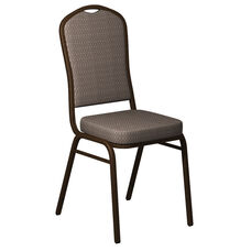 Crown Back Banquet Chair in Biltmore Dune Fabric - Gold Vein Frame