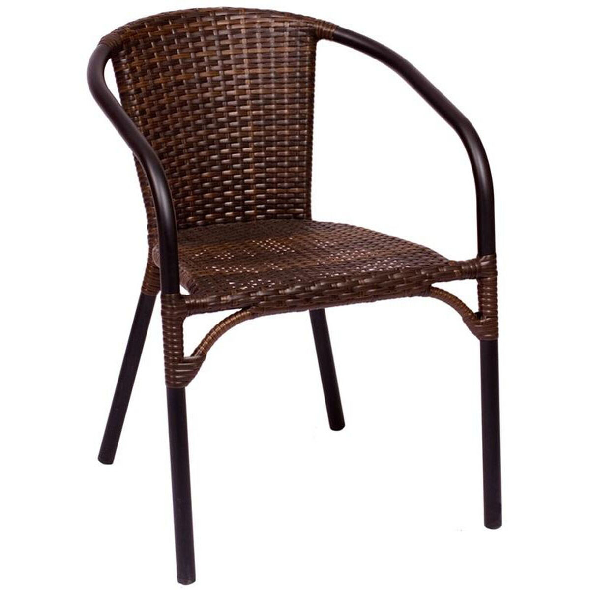 Bfm Seating Marina Stackable Arm Chair Synthetic Wicker