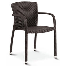 Biscayne Collection Stackable Outdoor Arm Chair