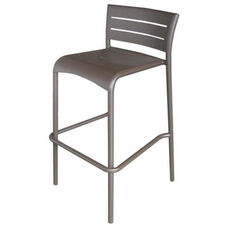 Riviera Collection Stackable Bronze Aluminum Outdoor Barstool