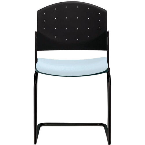 Eddy Armless Sled Base Stack Side Chair with Upholstered Seat Pad