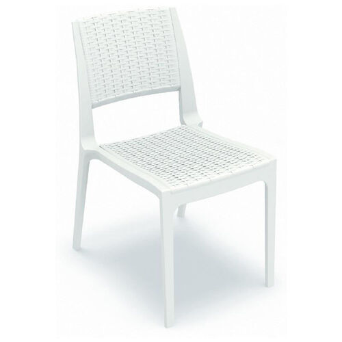Our Verona Outdoor Wickerlook Resin Stackable Dining Chair - White is on sale now.