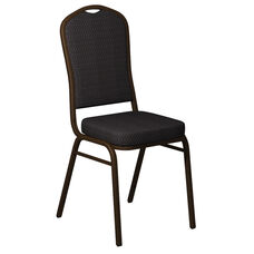 Crown Back Banquet Chair in Biltmore Ironside Fabric - Gold Vein Frame