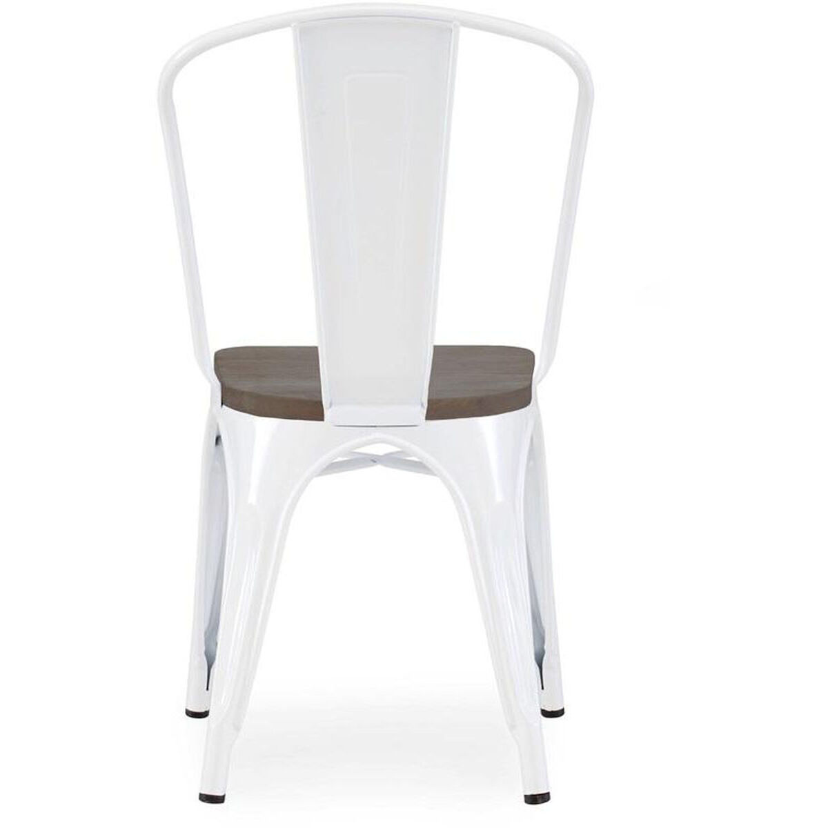 Design Lab Mn Dreux Stackable Glossy White Steel Side