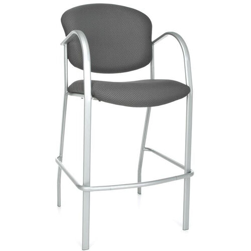 Our Danbelle Cafe Height Fabric Chair with Arms - Graphite is on sale now.