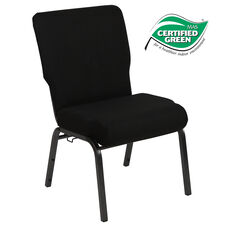 Advantage 20.5 in. Black Molded Foam Church Chair