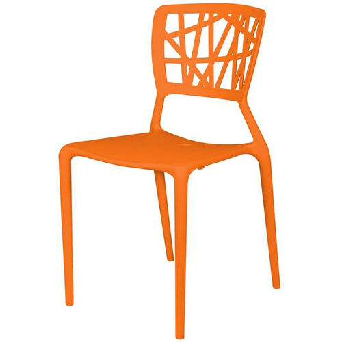 Our Phoenix Outdoor Stackable Armless Side Chair - Orange is on sale now.