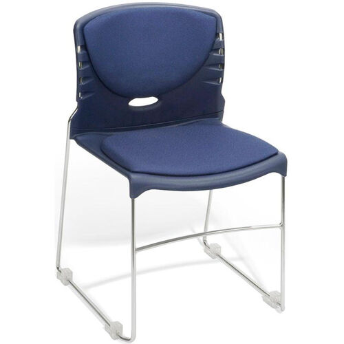 Our 300 lb. Capacity Stack Chair with Fabric Seat and Back - Navy is on sale now.